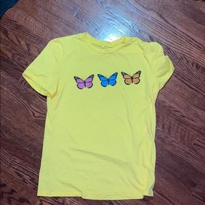 Yellow butterfly tshirt